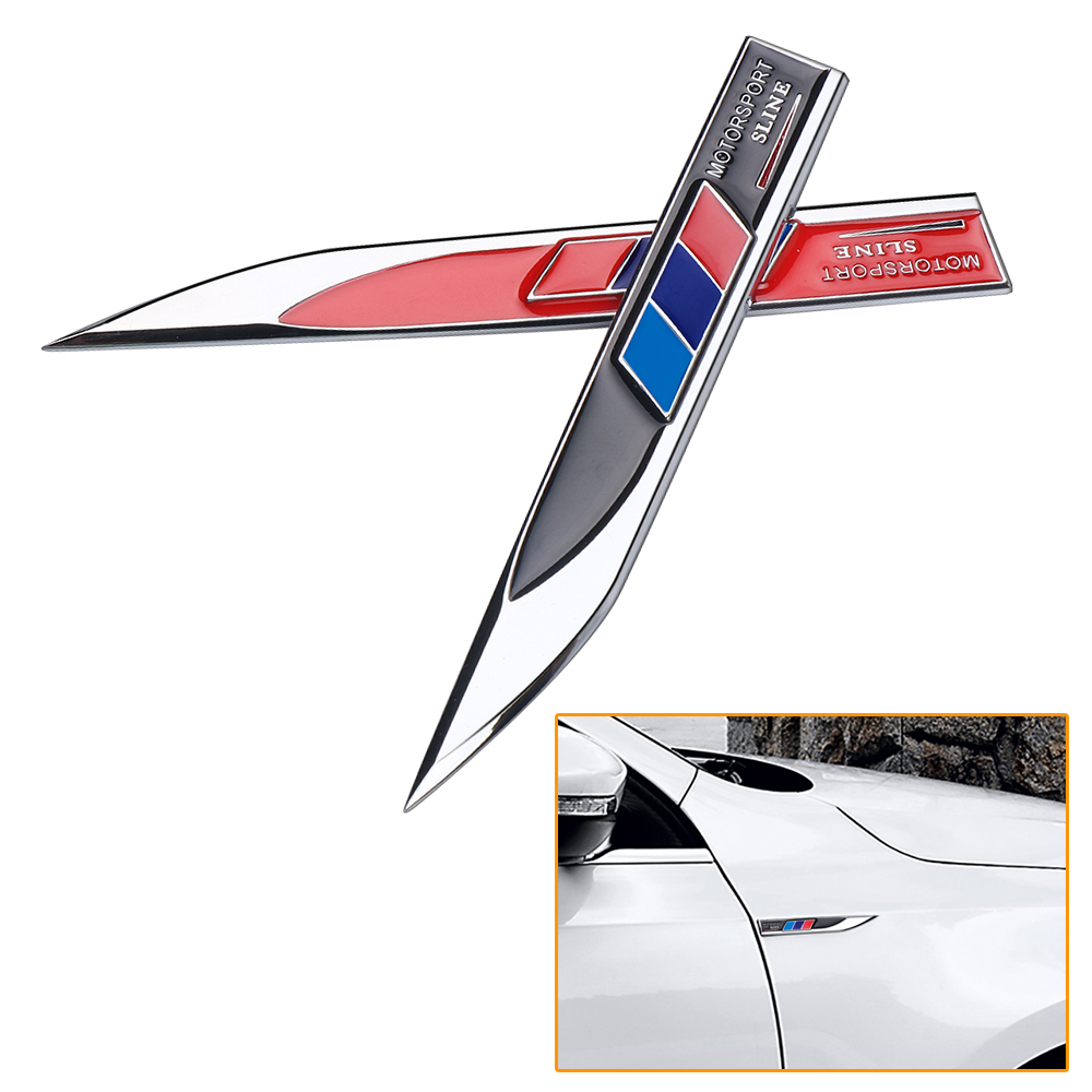 2PCS Motorsport Sline Car body Side <font><b>Emblem</b></font> Badge <font><b>Sticker</b></font> For <font><b>bmw</b></font> X1 X3 X4 X5 X6 X7 E39 e46 E60 e90 f20 e60 <font><b>f10</b></font> Car accessories image