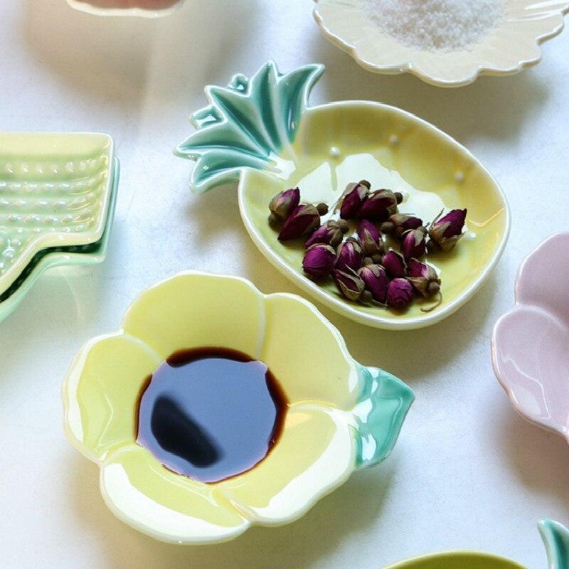 Купить креативное керамическое блюдо с кактусом в стиле ананаса с ароматом