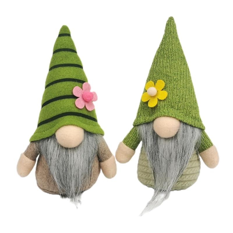 Easter Tomte Doll Plush Figurine Nordic Scandinavian Gnome Elf Ornaments Spring