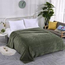 Cobertor de cama listrado cor verde cobertor de flanela macia única rainha rei tranças quentes para camas mantas de cama thow cobertores