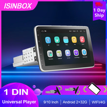 1 Din Car Radio Android Auto Player Multimedia Player 9/10 inch Rotatable Screen WIFI/4G Bluetooth Auto Radio Audio Car Stereo