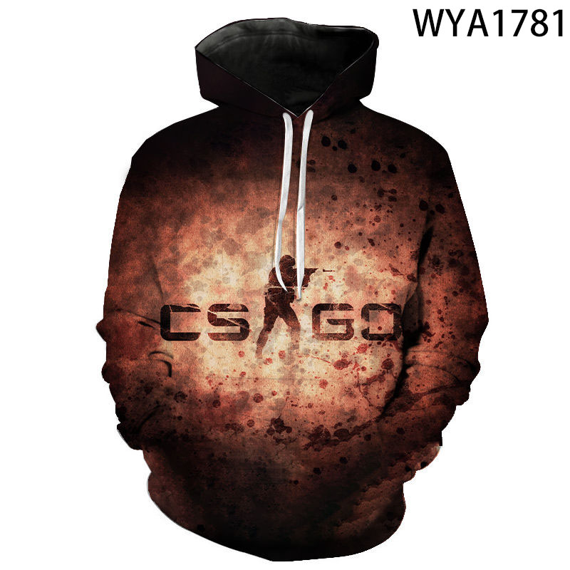 2020 Funny Hoodies Cool CS GO Gamer Sweatshirt Hot Counter Strike Global Offensive CSGO Men Women Hoodie Brand 3D Print Clothing