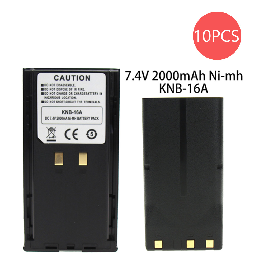 10X 2000mAh Ni-MH Battery For Kenwood KNB-16A KNB-17A KNB-21N KNB-52N TK-280/380/480/481, TK-290/390/490 Two Way Radio