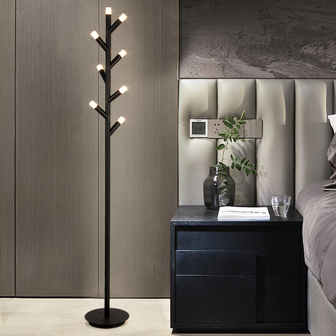 nordic minimalista led lampe piso lampsmoderno conduziu a lampada de assoalho preto marrom sala estar
