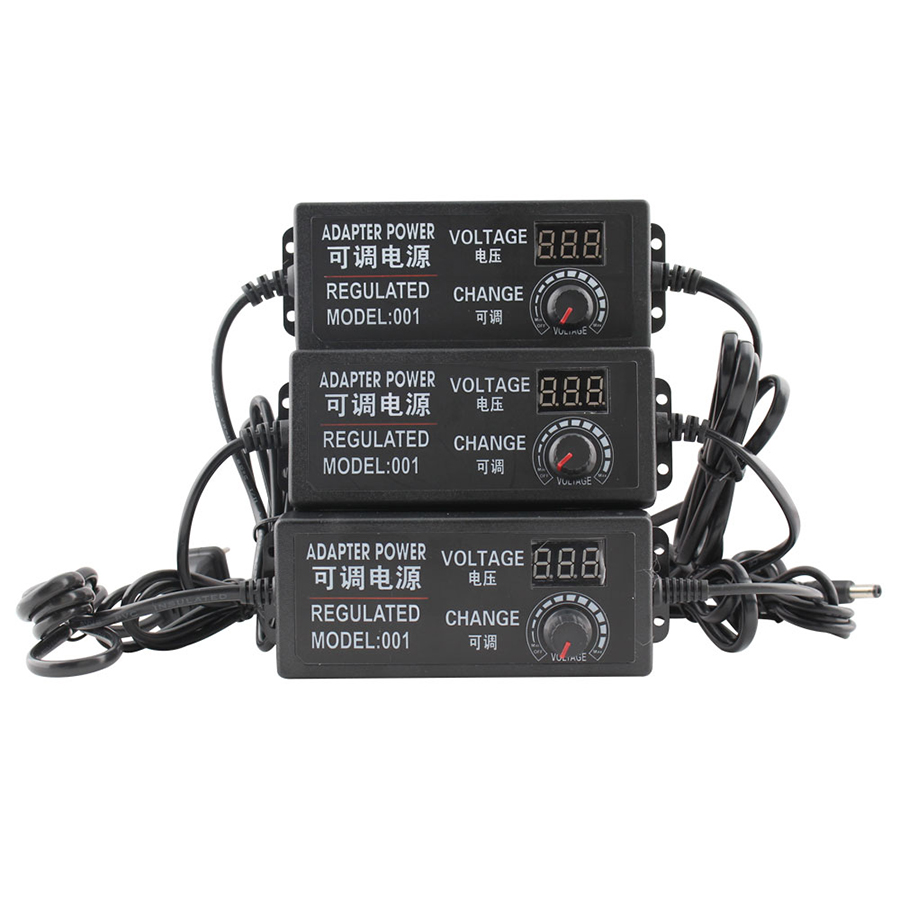 Adjustable <font><b>AC</b></font> To <font><b>DC</b></font> <font><b>3V</b></font> 9V Universal <font><b>12V</b></font> Power Adapter 24V Supply Display Screen Charger Power Adatper 220V To 3 9 12 24 V Volt image