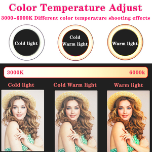 Image 4 - Orsda 26cm/10inch Ring Light LED Selfie Lamp Studio Photography Photo RingLight Makeup For Live Tube Fill with Tripod Youtube