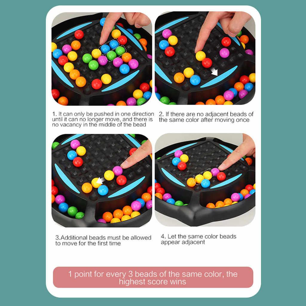 Bola de arcoíris de juego educativo para niños, rompecabezas de arcoíris, juego de ajedrez mágico para chico y adulto, juguetes interactivos A6