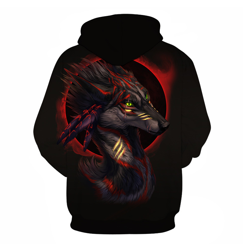 Wolf Printed Women 3d Hoodies Brand Sweatshirts Girl Boy Jackets Pullover Fashion Tracksuits Animal Streetwear Lovers Sweatshirt 82