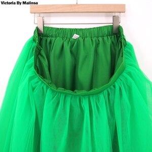 Image 2 - חורף טוטו בנות נסיכת פלאפי קפלים בתוספת גודל ורוד נשים נהיגה לראשונה חצאית Femme Faldas Rokken מותאם אישית טול חצאיות