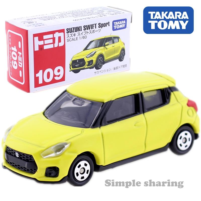 Takara Tomy Tomica N0.109 Suzuki Swift Sport 1/60 Scale Diecast Toy Car Yellow Diecast Metal Car In Toy Vehicle Model Collection