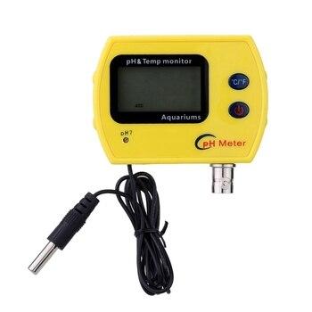 Us Plug, medidor de Ph y temperatura de alta precisión medidor de Ph en línea profesional para acidímetro portátil de acuario Calidad de Agua Potable fina|Medidores de PH| |  -