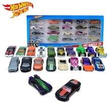20 шт., игрушечные машинки Hot Wheels, подарочный набор, хит, спортивный сплав, металл, литые игрушки, транспортные средства для детей, мальчиков, Рождество, Год, игрушечный автомобиль, подарок