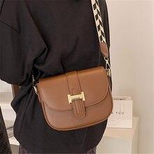 Sacs à bandoulière carrés à rabat de couleur unie pour femmes en cuir PU à la mode large sangle sacs à main design dames de luxe petit sac à bandoulière