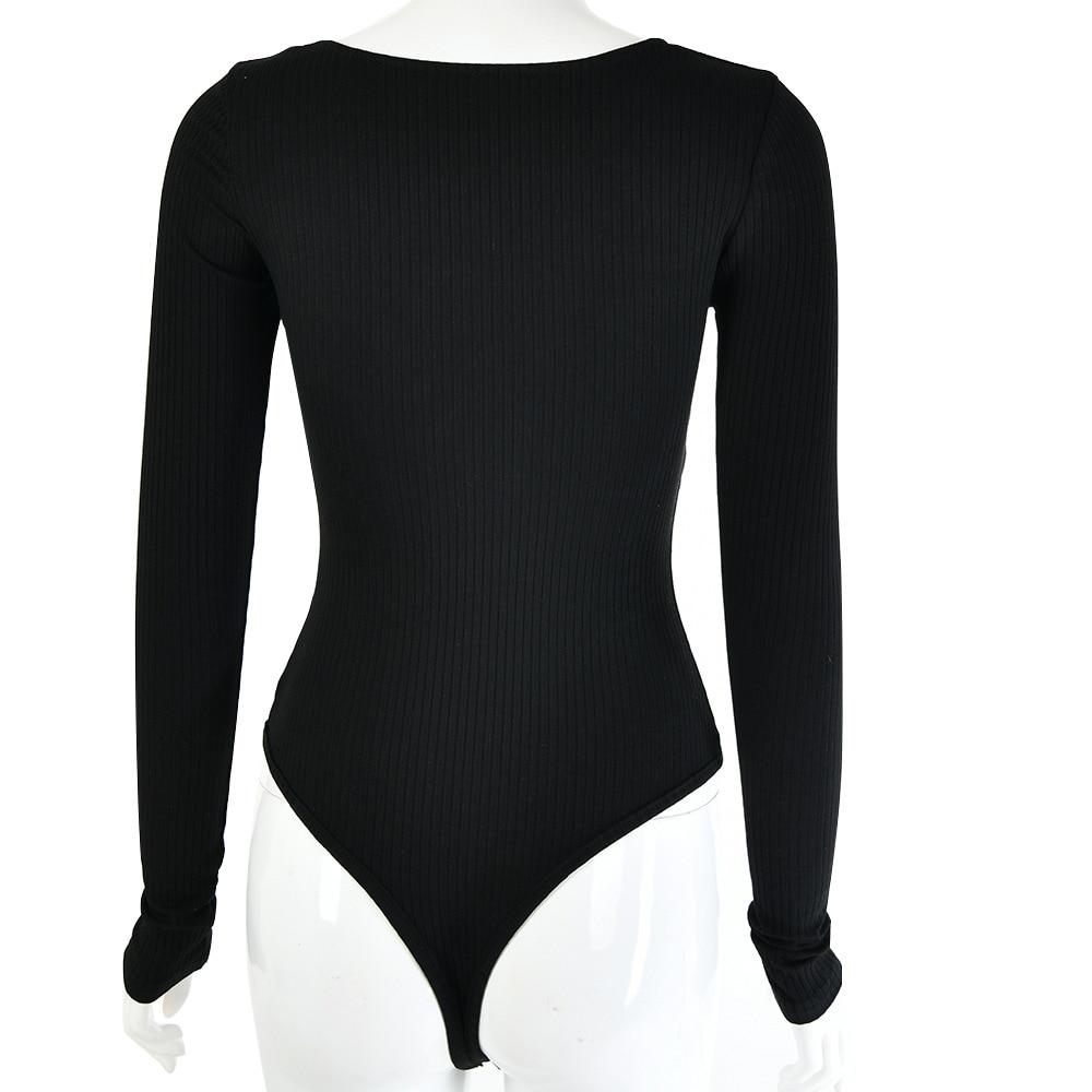 Julyee bodysuit feminino algodão sólido pit strip