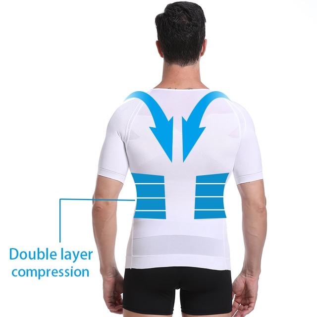 Classix Men Body Toning T-Shirt Slimming Body Shaper Corrective Posture Belly Control Compression Man Modeling Underwear Corset 6