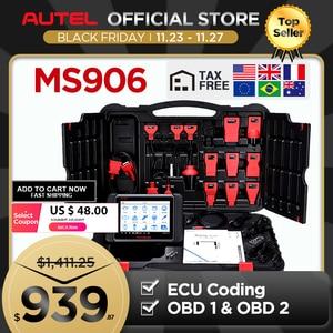 Image 1 - AUTEL MaxiSys MS906เครื่องมือวินิจฉัยอัตโนมัติOBD2เครื่องสแกนเนอร์รถยนต์Key Coding OBD 2 ECU Tester Key Programmer PK MS906BT MS906TS