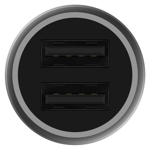 Image 5 - Xiaomi 37W רכב מטען במהירות נייד טלפון רכב מטען מהיר טעינת שני USB פלט יציאות טעינה מהירה לבן LED הפקודה אור