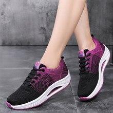 Спортивная обувь для тенниса женские кроссовки Модные женские летающие тканые дышащие Нескользящие износостойкие кроссовки# g4