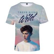 2021 Popular Singer Troye Sivan 3D Print T Shirt Men/women Summer Fashion Harajuku T-shirt Troye Sivan Printed Casual T Shirts
