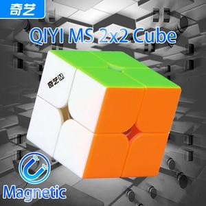 QiYi MS MoFangGe 2x2x2 Magnetic Magic Cube Professional Qiyi MS Series 2x2 Cube Puzzle Stickerless Magnets Speed Cube Qiyi M S
