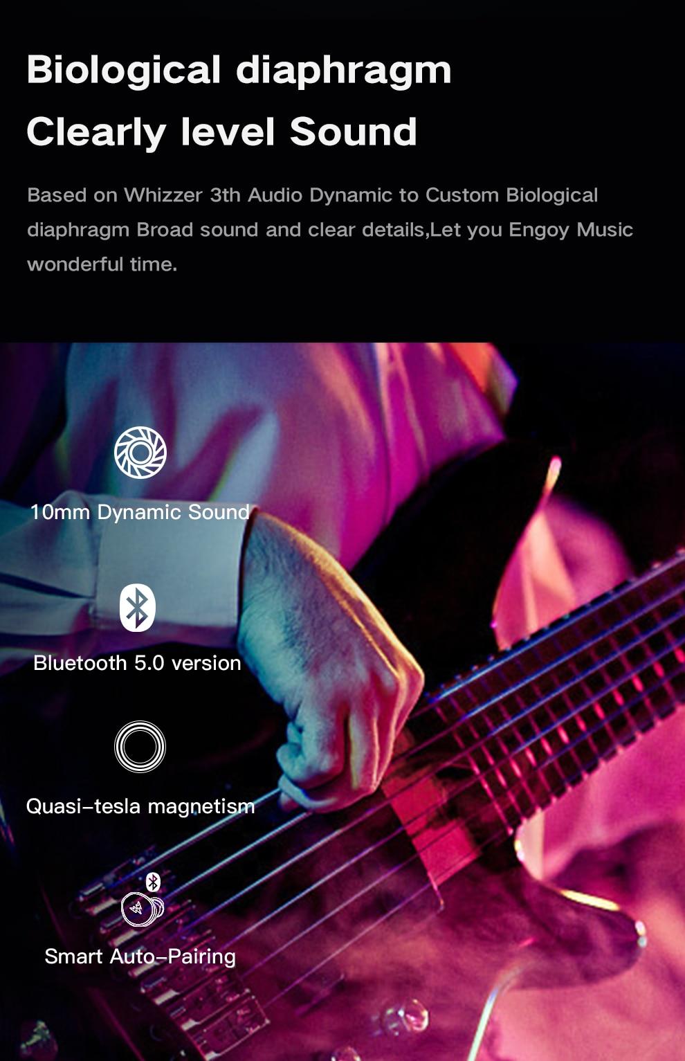 Whizzer C3 APTX TWS Wireless Earbuds 7