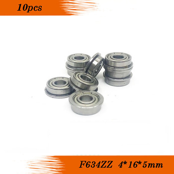 F634ZZ rodamiento de brida, 4x16, 4x18x5mm ABEC-5 ( 10 uds) reborde F634 Z cojinetes bola ZZ F634-2Z