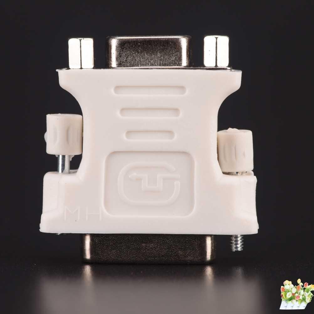24 + 1 Pin DVI-D-D-M To VGA-F adaptörü-25 Pin (çift bağlantı) DVI-D erkek 15 Pin VGA dişi Video bilgisayar monitör adaptörü