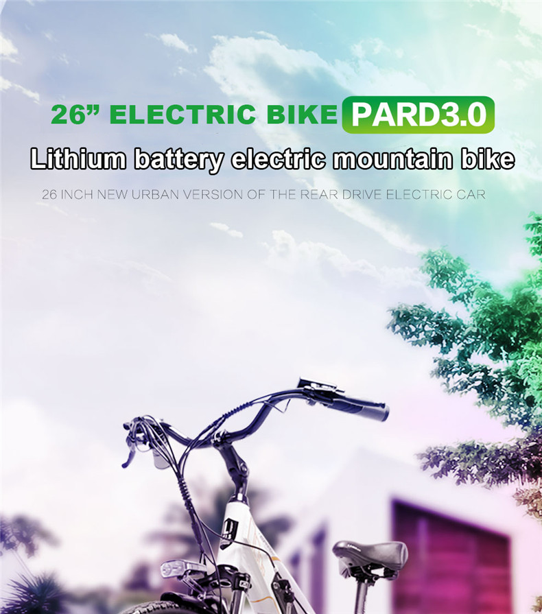 Top 26inch Electric mountain bike 36V lithium battery travel electric bicycle lighweight Ebike 1