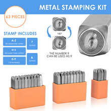 Steel Die Metal Stamping kit Punch Tool Number Letter Alphabet Stamps Tools DIY Jewelry Gold Silver Metal leather LOGO Stamp
