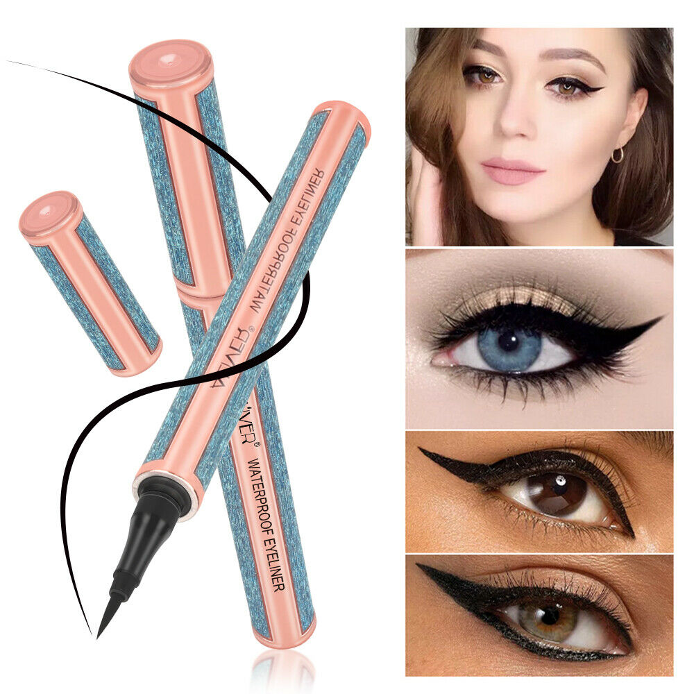 Ultra-Thin Skinny Liquid Eyeliner Felt Tip Precision Liner Long Lasting Waterproof Black Eyeliner Pencil Cosmetic Beauty Tool image