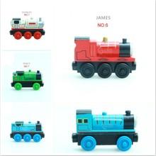 Магнитный деревянный Паровозик Emily Train, магнитные игрушки, рождественский подарок для детей, деревянные дорожки для детей