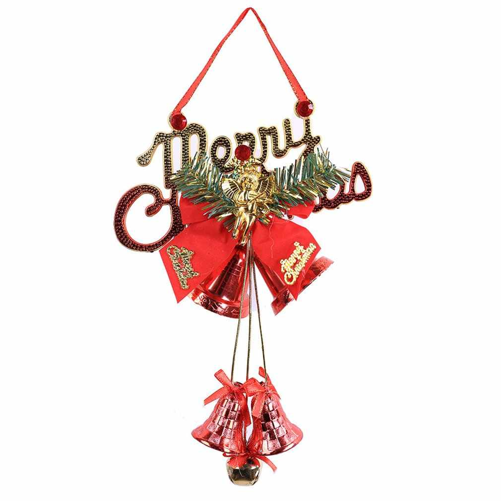New hot double bell hollow explosion models Christmas creative cute Christmas bell string decoration pendant