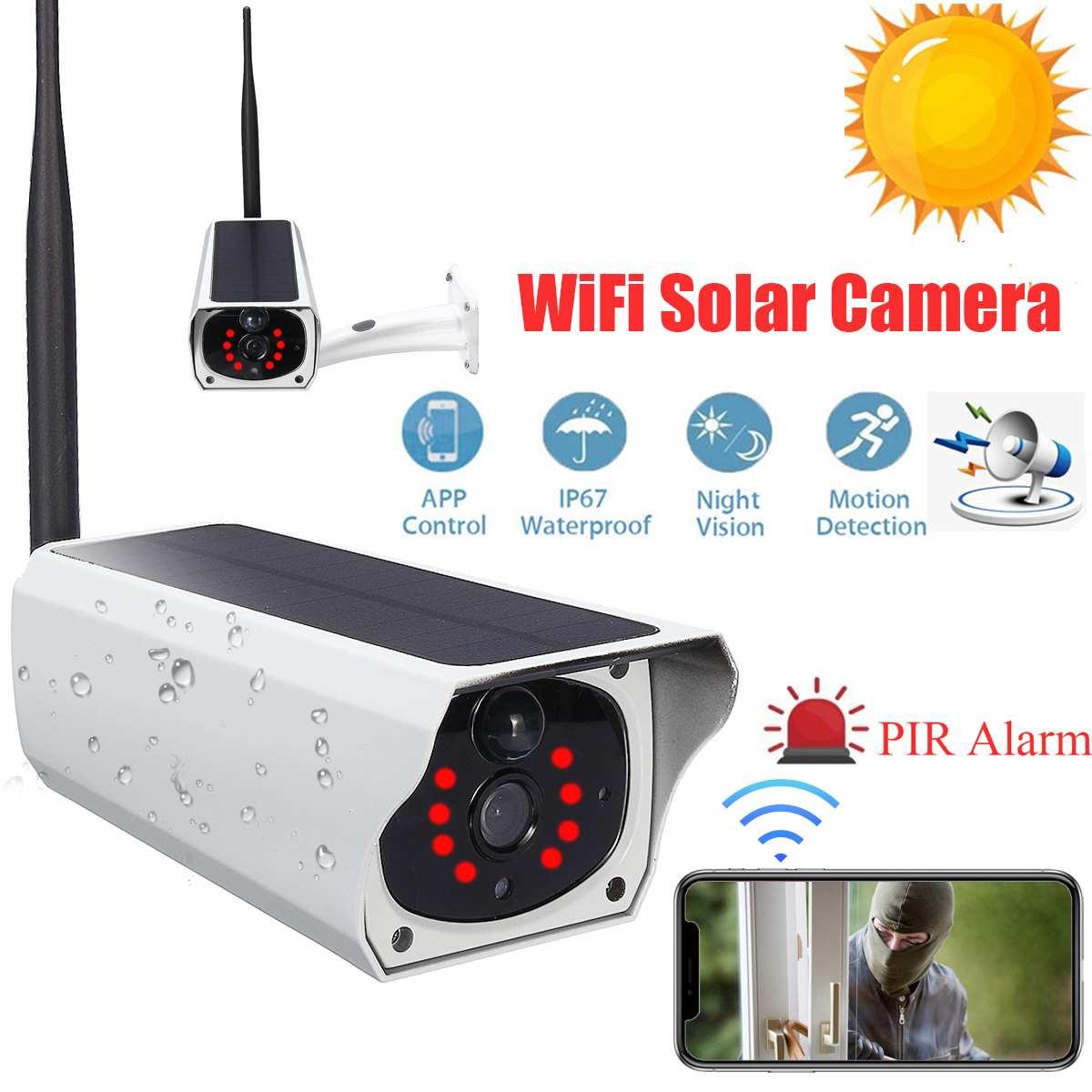 1080P HD Wi-fi Sem Fio Da Câmera de Vigilância da Segurança Home Câmera Visão Nocturna do IR Câmera com Áudio Bateria Solar Ao Ar Livre À Prova D' Água