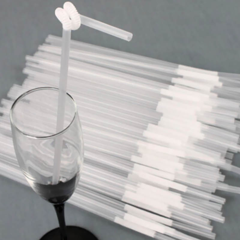 1 Package Transparent Clean Drinking Straws Wedding Flexible Drinking Hd0119 Bendy Party Straws Long