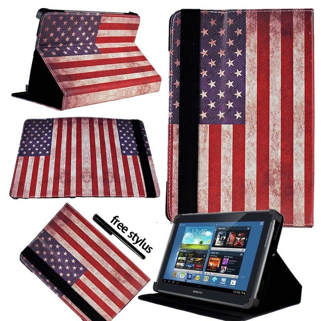 KK & LL Per Samsung Galaxy Note 10.1 N8000 n8010-Tablet In Pelle Del Basamento Del Foglio Della Copertura Della Cassa + Libera dello stilo