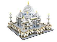 цена Zhenwei World Famous Architecture India Taj Mahal Palace 3D Model Diamond Mini DIY Micro Building Nano Blocks Bricks Toy онлайн в 2017 году