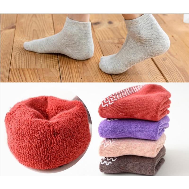 Children Socks Winter New Free Shipping 80% cotton non slip character kids Thickening sock 0-7year girl boy 6pair wholesales 1