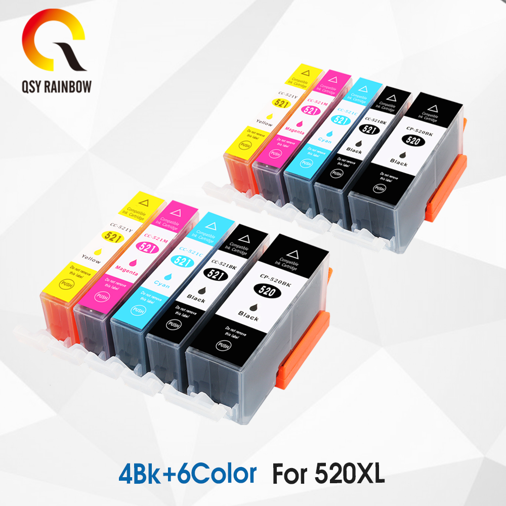 PGI-520 CLI-521 <font><b>Ink</b></font> <font><b>Cartridge</b></font> For <font><b>Canon</b></font> PGI 520 PGI520 CLI521 PIXMA MP540 MP550 MP560 MP620 <font><b>MP630</b></font> MP640 IP3600 IP4600 with chip image