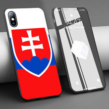 Coque Slovakia Slovak Flag Soft Silicone Phone Case for iPhone 11 Pro Max X 5S 6 6S XR XS Max 7 8 Plus Case Phone Cover(China)