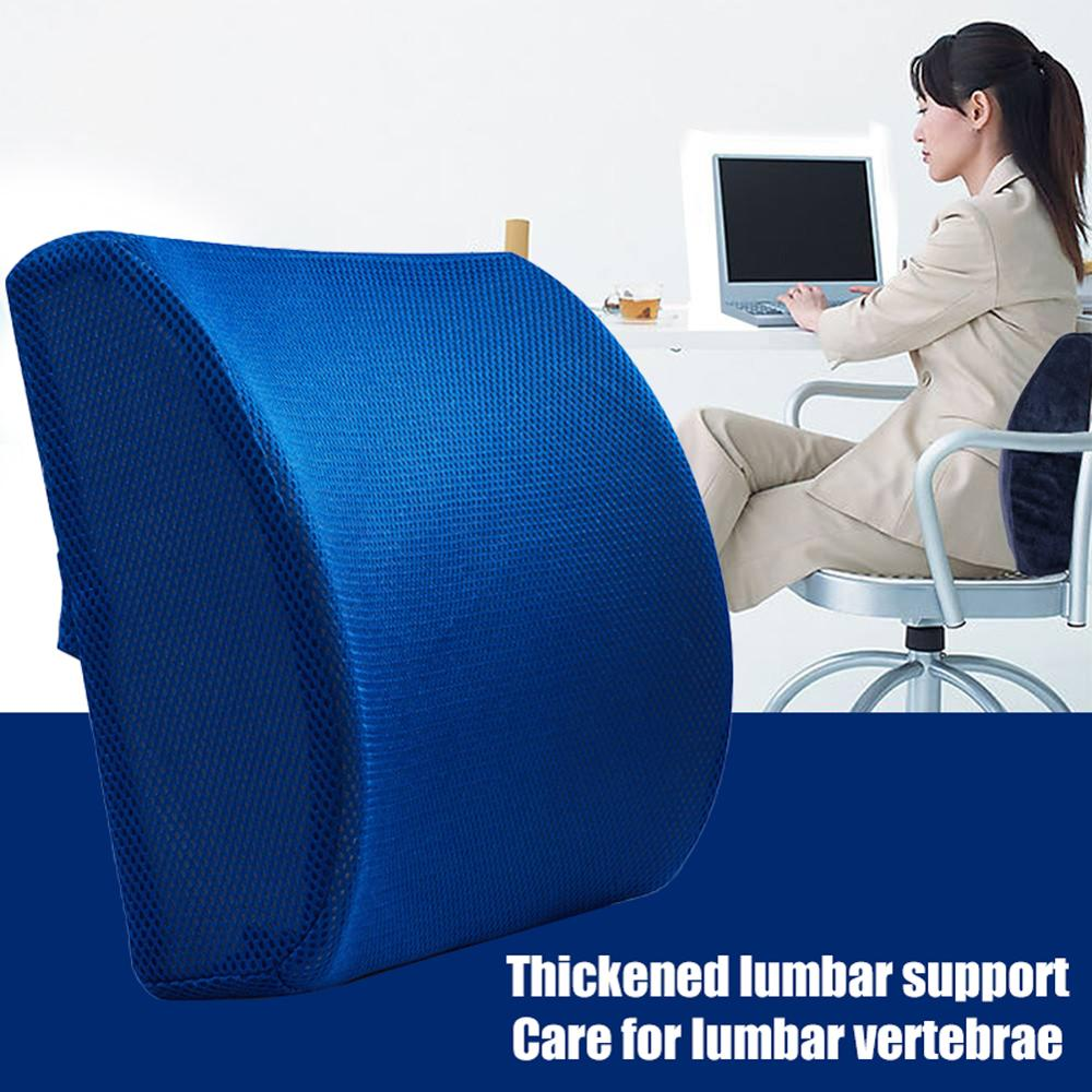 Soft Memory Foam Lumbar Support Back Massager Waist Cushion Pillow For Chairs in the Car Waist Cushion No Smell Wholesale CSV