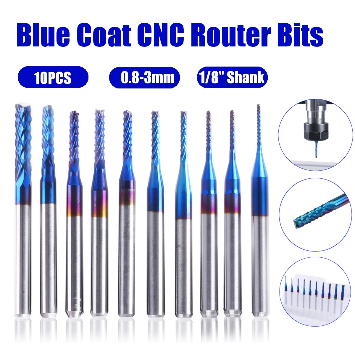 """1//2/"""" Diameter 30° Degree Included Angle Double End Carbide Engraving Tool USA"""
