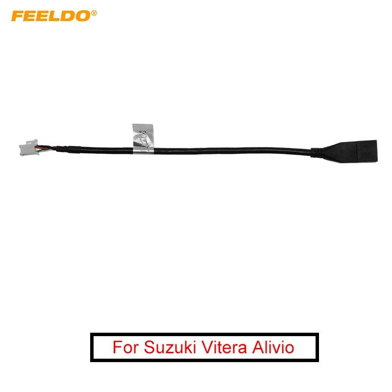 FEELDO Auto Audio Radio 4Pin Conector Wechsler Port USB Adapter für Suzuki Vitera Alivio USB Kabel Transfer