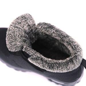 Image 4 - Botas de invierno con piel para Mujer, botines cálidos de goma, informales, talla grande 42
