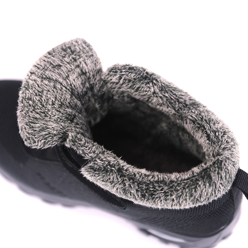 Image 4 - Winter Fur Boots Womens Shoes Warm Rubber Ankle Footwear Female Wedge Shoes Casual Botas Mujer Women Sneakers Warm Big Size 42Ankle Boots   -