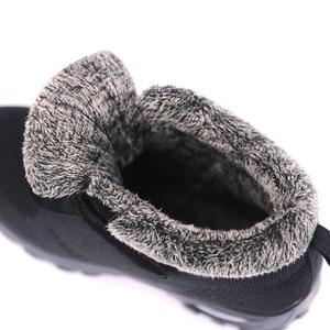 Image 4 - Winter Pelz Stiefel Frauen Schuhe Warme Gummi Ankle Schuhe Weibliche Keil Schuhe Casual Botas Mujer Frauen Turnschuhe Warme Große Größe 42