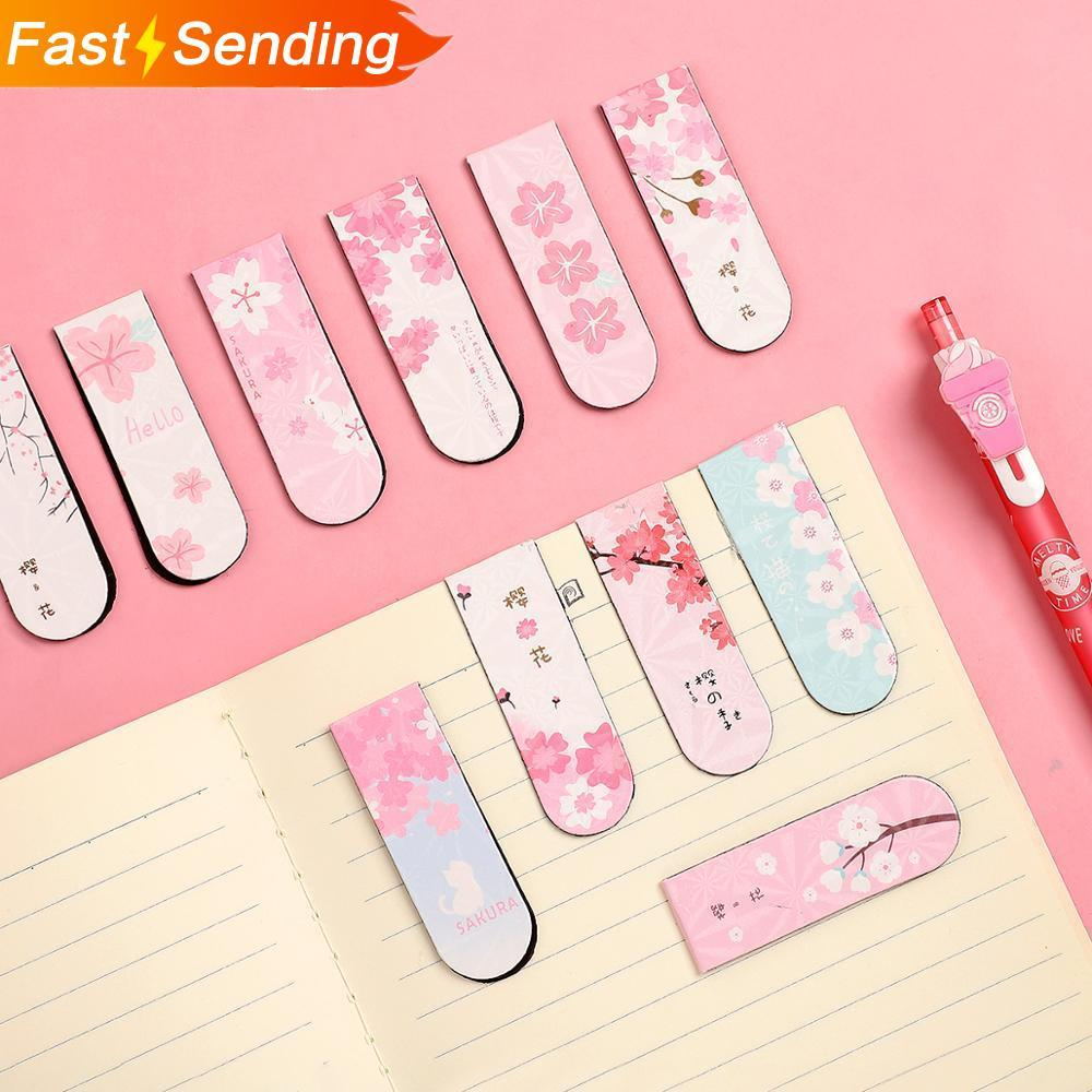 JIANWU 6pcs/set Cute Cartoon Magnet Bookmark Life Fresh Bookmark Creative Magnetic Bookmarks For Books Kawaii School Supplies