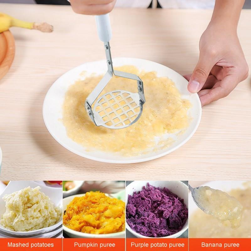 Толкатель для картофеля из нержавеющей стали, толкатель для гладкого прессованного картофеля, машер для пюре и сока, дробилка для картофеля...