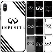 Super Car Infiniti Logo DIY Printing Phone Case cover Shell For iphone 5 5S SE 5C 6 6S 7 8 plus X XS XR 11 PRO MAX black cover lovely cat for iphone x xr xs max for iphone 8 7 6 6s plus 5s 5 se super bright glossy phone case
