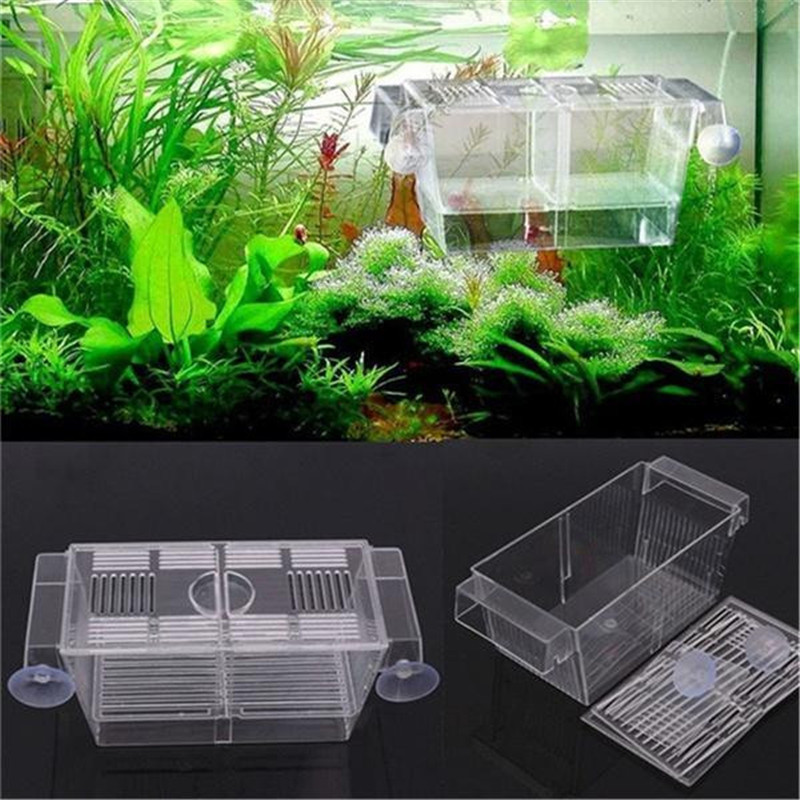 Transparent Plastic Fish Tank Small Fish Fry Isolation Box Hatch Box Incubator Aquarium Incubator Home Fish Tank Breeding Box