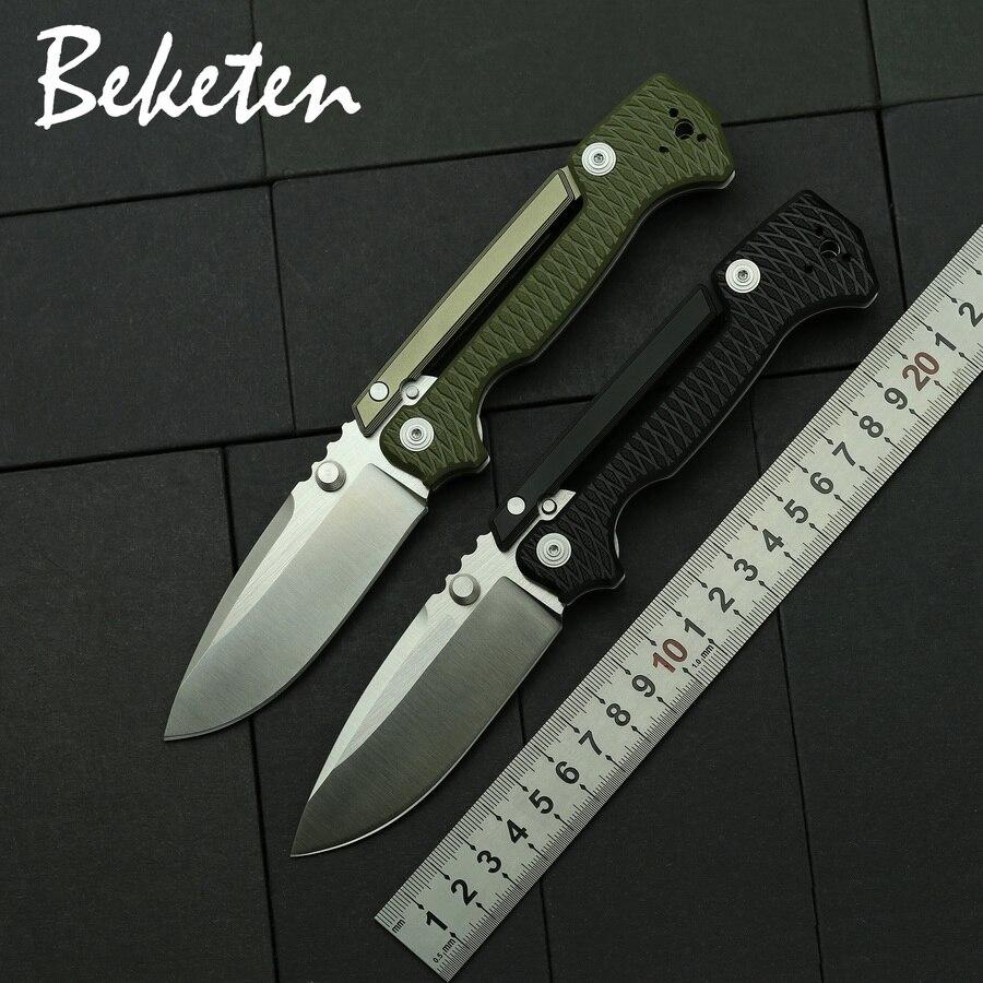 BEKETEN новый стиль AD15 складной нож D2 blade G10 с алюминиевой ручкой для кемпинга, охоты, рыбалки, тактики выживания, карманные ножи|Ножи|   | АлиЭкспресс